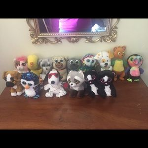 Children's Ty Beanies and Stuffed Animal Bundle
